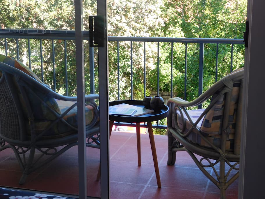 Your own private balcony to enjoy, read a book, watch the sunset, or just relax and unwind.