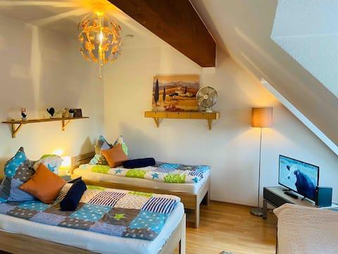 Cozy City Flat | Balkon | W-Lan | Küche