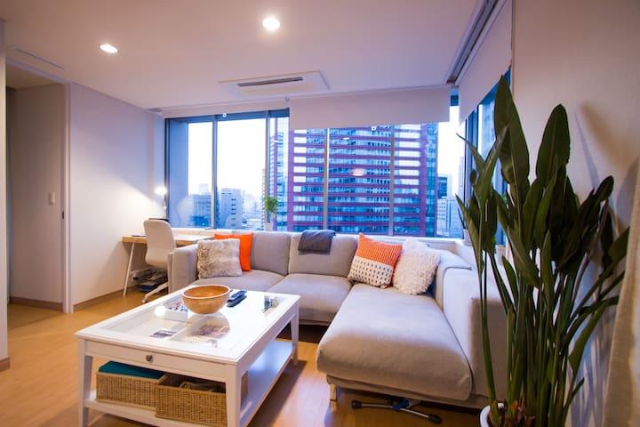 Modern Inner City Apartment - Minato Ku, Tokyo - Minato-ku - Flat