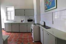 Half of the kitchen