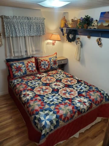 Bedroom two with a double bed.