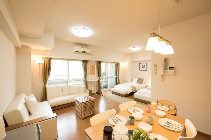Best!!!! Location,62㎡ Clean Room,Baby,Free WIFI
