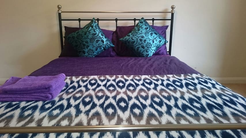 Bright spacious double room with garden view. - Reading - Serviced flat