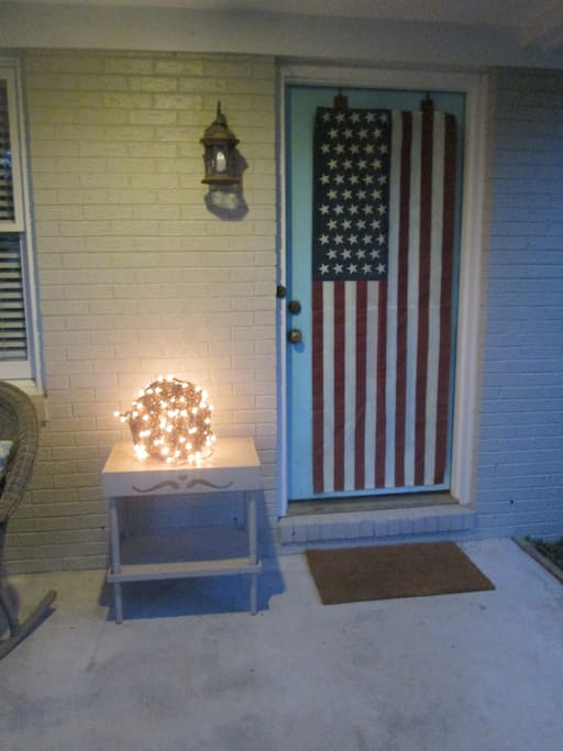 The due south facing front porch is perfect for enjoying the sun and a morning cup of coffee.