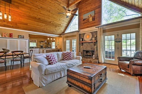 Lavish Lake Sinclair Home w/Dock & Private Beach