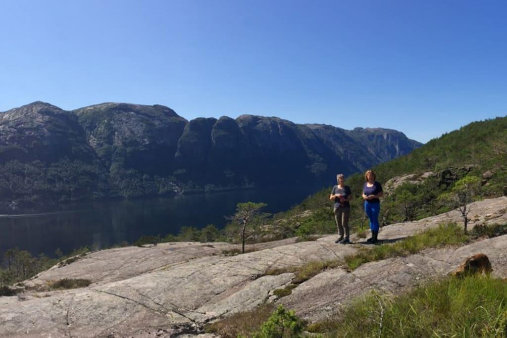 Hikers in Lysefjorden