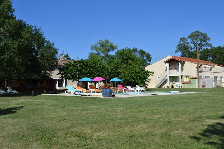 Studio with heated swimming pool - Saint-Papoul - Dom