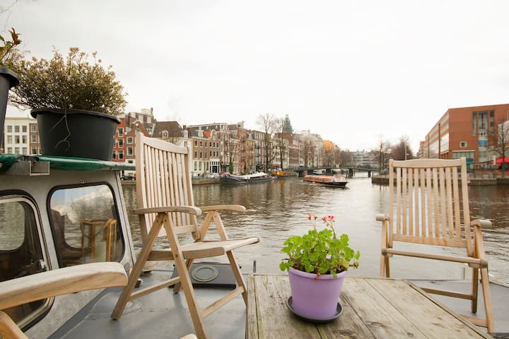 Houseboat city center rembrandt square - Amszterdam - Hajó