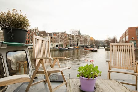 Houseboat city center rembrandt square - Amsterdam - Boot