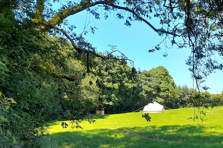 Belltent on small secluded site