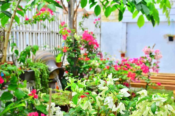 未知花园别墅木屋双床房(Un-garden villa twin bed room)