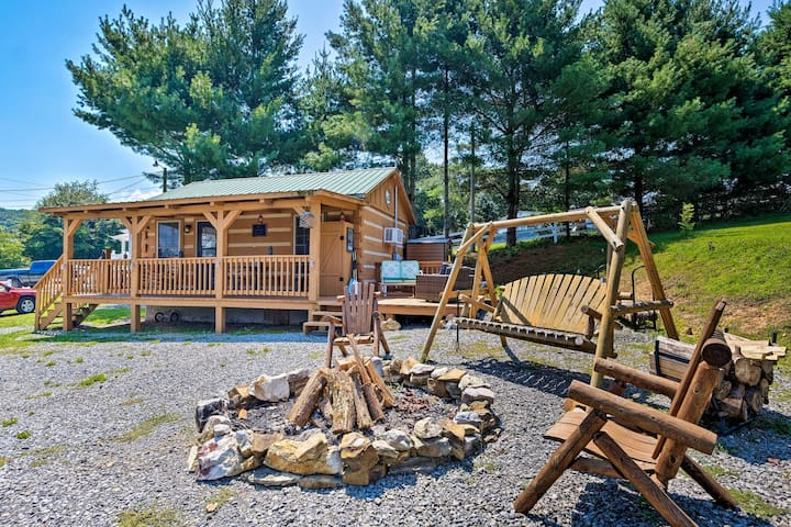 NEW! Log Cabin w/Fire Pit & Deck on Cherokee Lake!