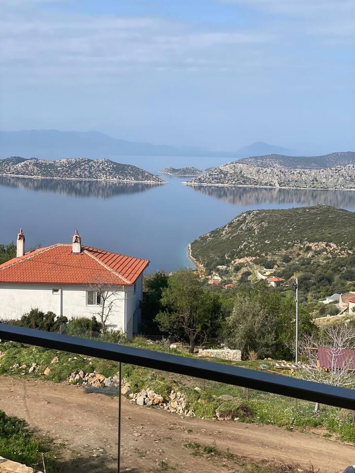 Marmaris Sögütte Muhtesem Deniz Manzaralı Villa