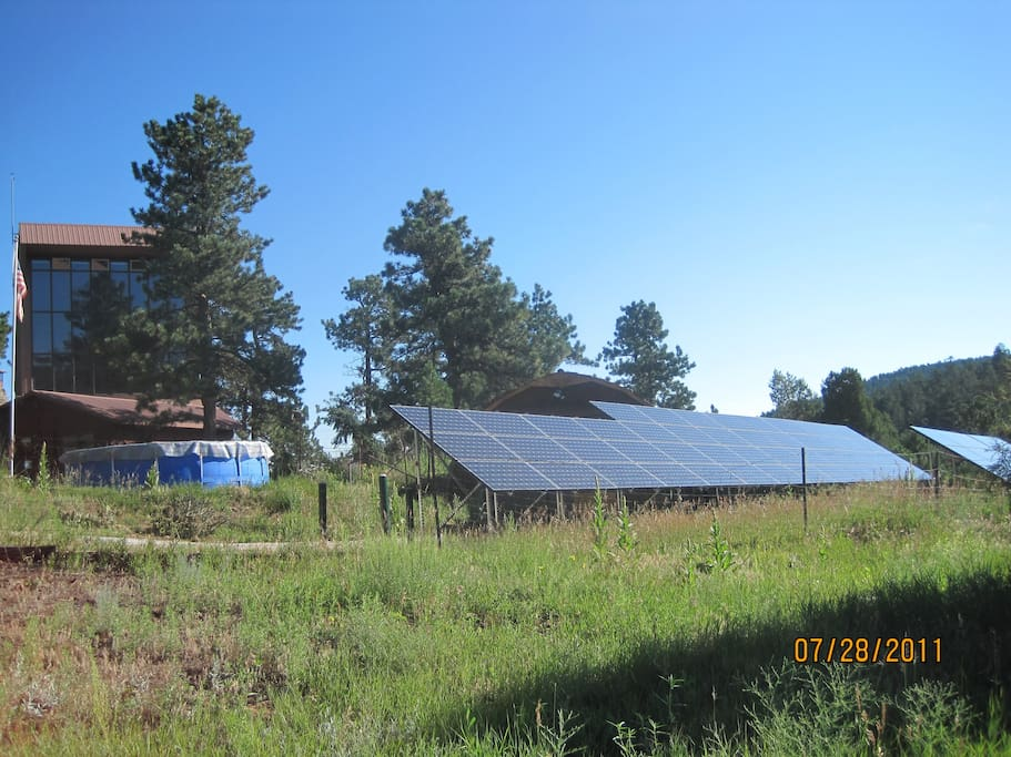 2010 PV panels, house, pool