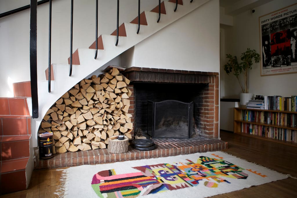 Cosy fireplace, wood included :)