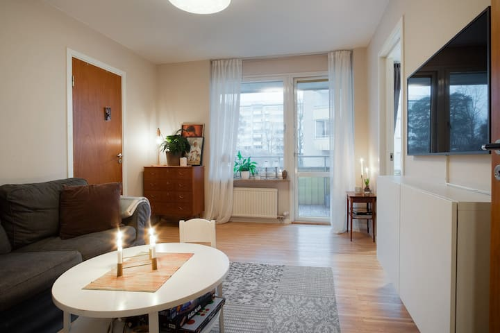 Family friendly apartment close to metro and lake