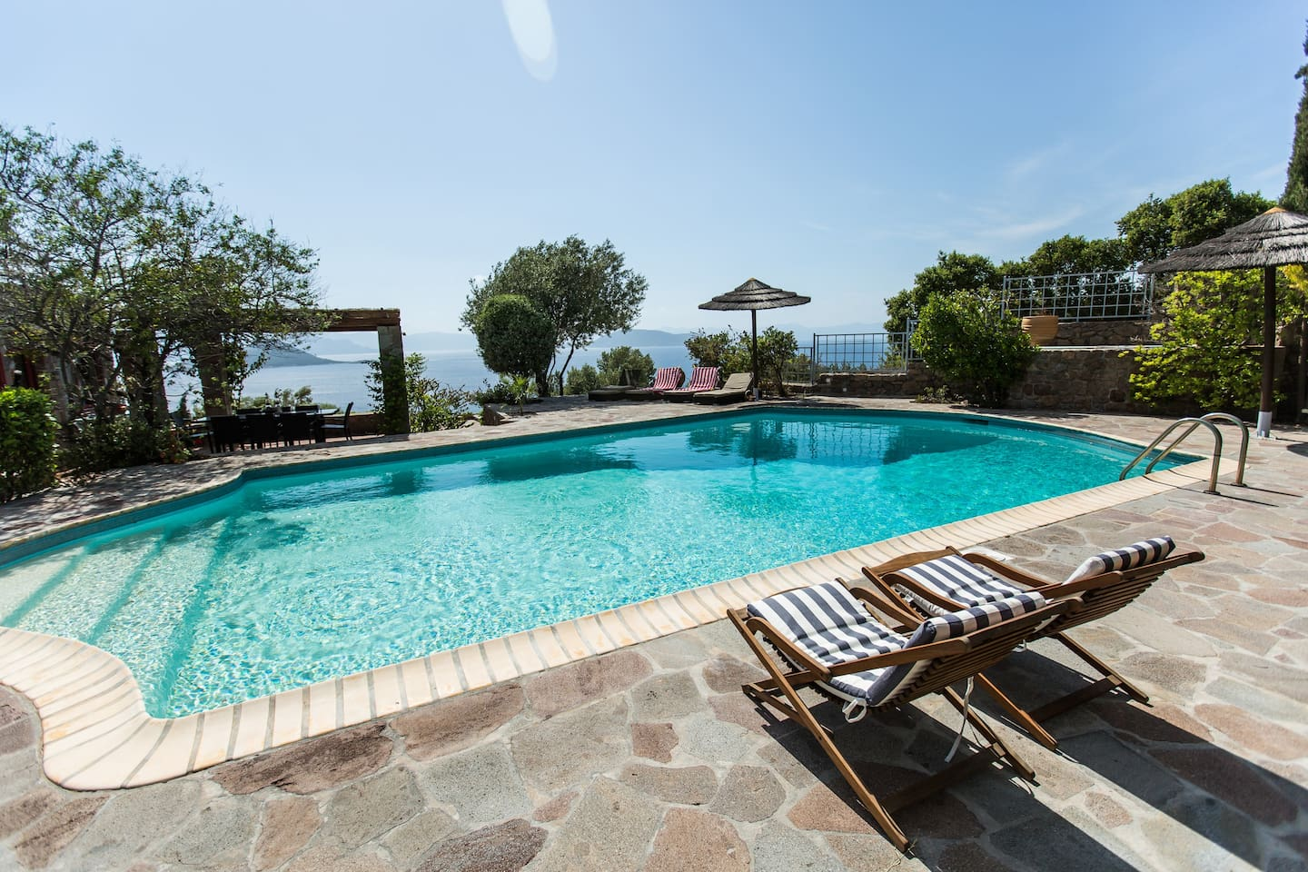 Private swimming pool with sea view