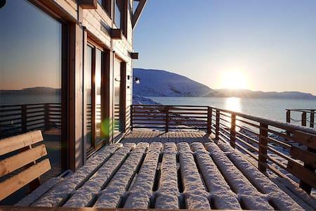 Tromsø, northern lights, fishing, house, Mikkelvik