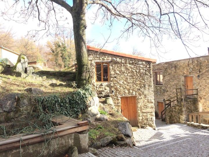 The Hermitage: a stone mountain mini-cottage.