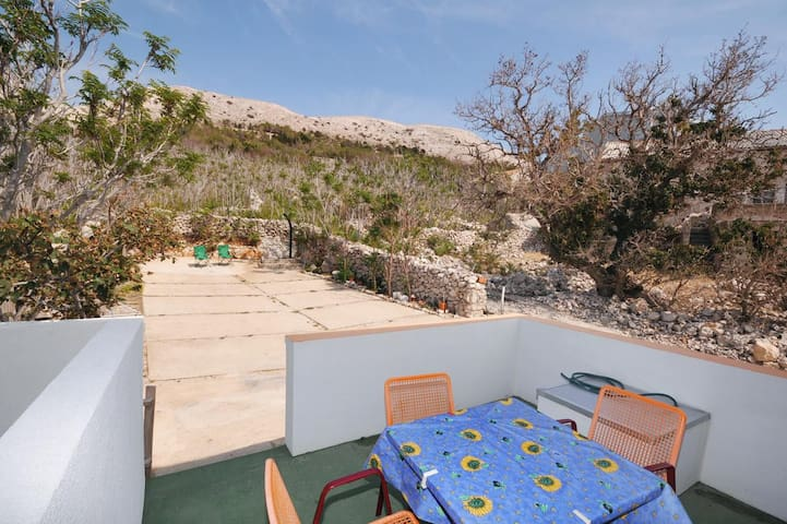 One bedroom apartment with terrace Metajna, Pag (A-6421-c)