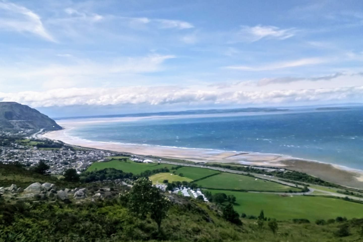 Walk along the beach at Dwygyfylchi to the cafe at Penmaenmawr