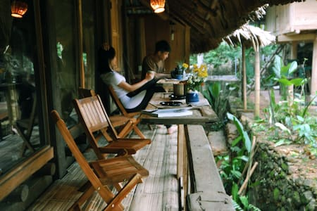Puluong Glamping • Dorm • Tranquil Garden View