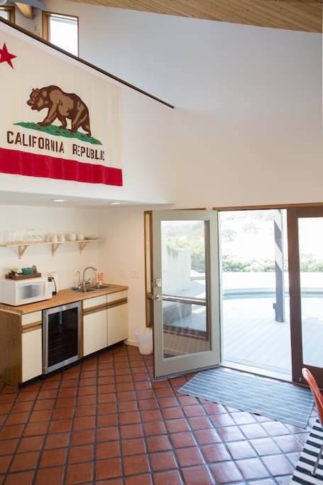 1960s vintage CA flag goes pretty well with the scenery