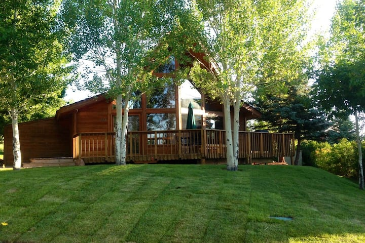 Dog-friendly cabin w/ access to shared heated pool & outdoor hot tub