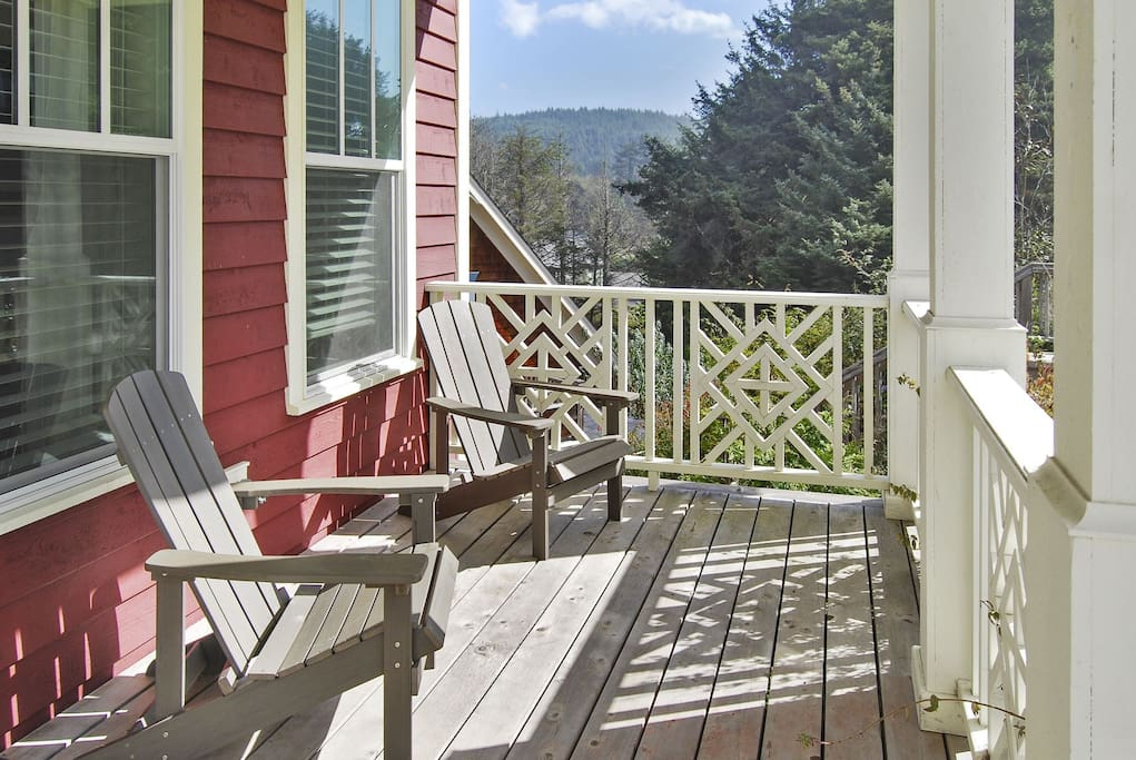 Front porch with two chairs