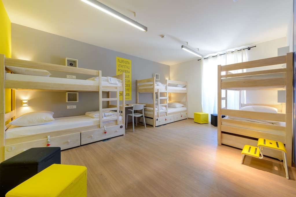 Airy rooms...