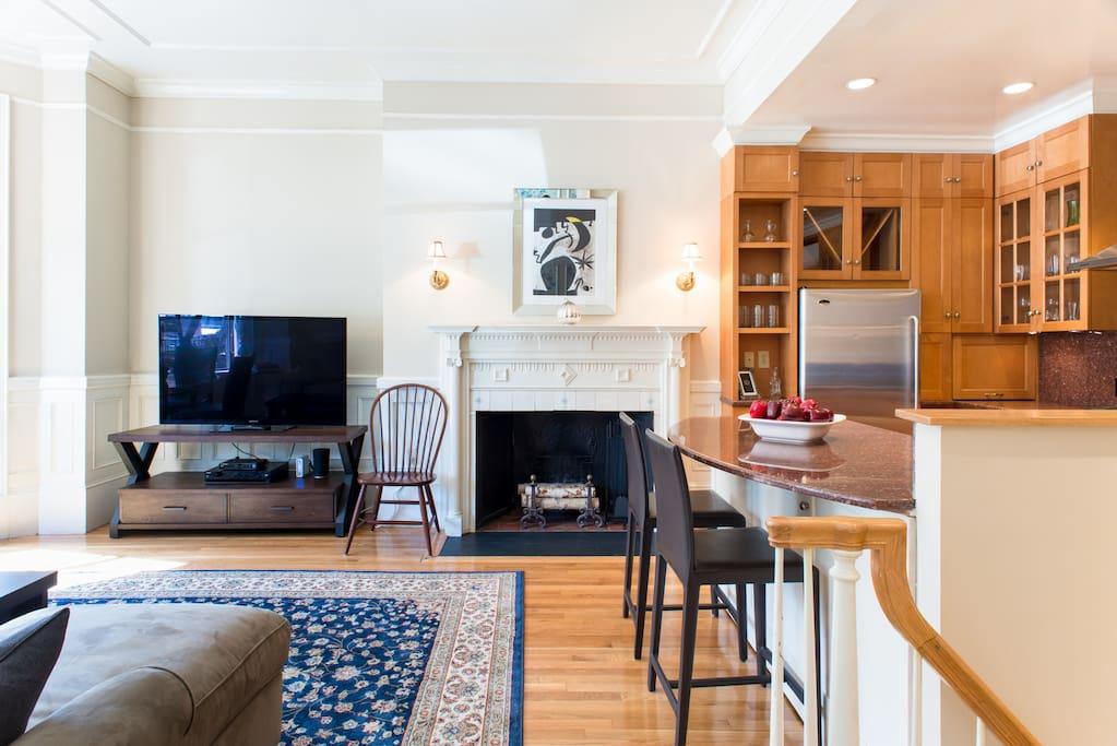 Living Room / Kitchen (Upper Level)
