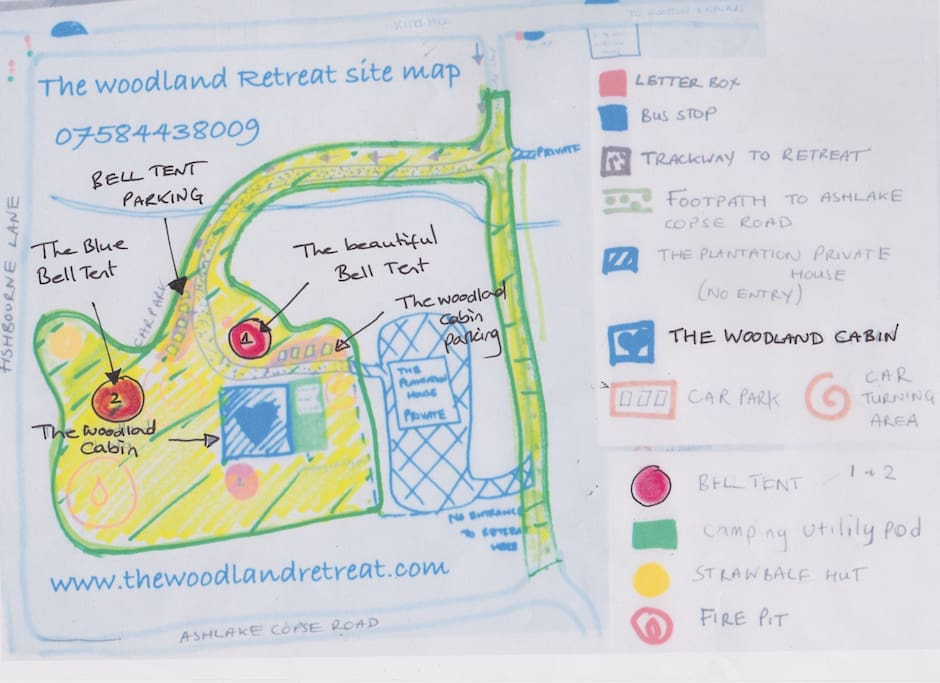 The Woodland Retreat site map