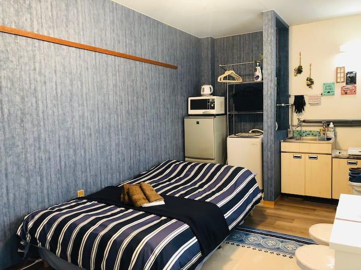 A13 Blue wall room