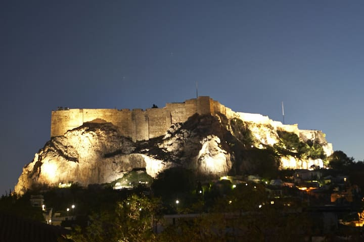 Heart of Athens. Huge terrace with Acropolis view!