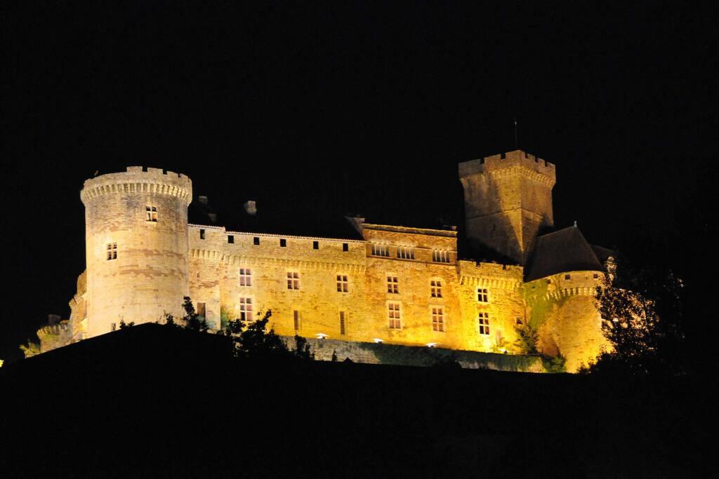 Château vue de nuit