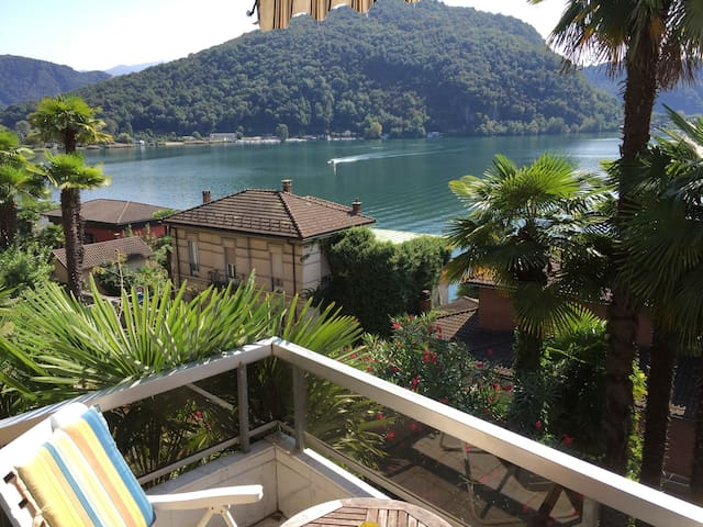 LAKE VIEW, 3 BEDROOM APT.SLEEPS 5-6 - Ponte Tresa - 公寓