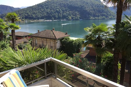 LAKE VIEW, 3 BEDROOM APT.SLEEPS 5-6 - Ponte Tresa - Leilighet