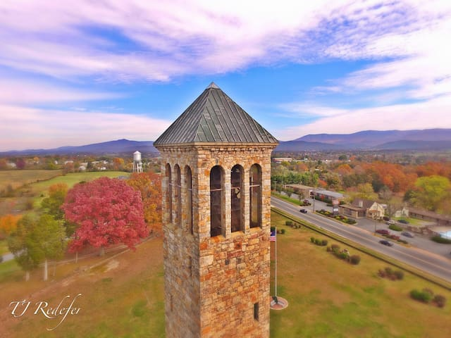 The Luray Singing Tower, officially known as the Belle Brown Northcott Memorial, was erected in 1937 in memory of Colonel T.C. Northcott's wife. At 117 feet in height the Luray Singing Tower contains a carillon of 47 bells. The largest bell weighs 7,640 pounds and is six feet in diameter. The smallest weighs a mere 12 1/2 pounds. Recital Schedule  April - May:  Saturday & Sunday at 3PM June - August: Tuesday, Thursday, Saturday & Sunday at 8PM  September - October: Saturday & Sunday at 3PM