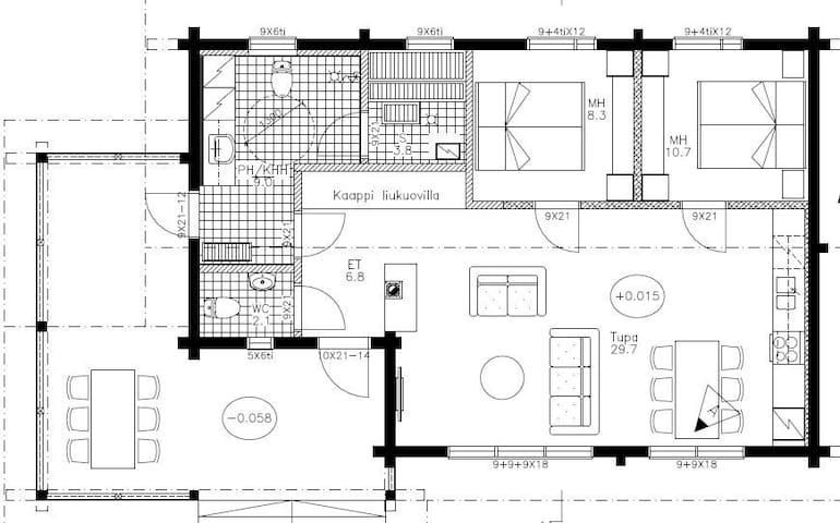 DeLuxe Villa Nightingale floor plan