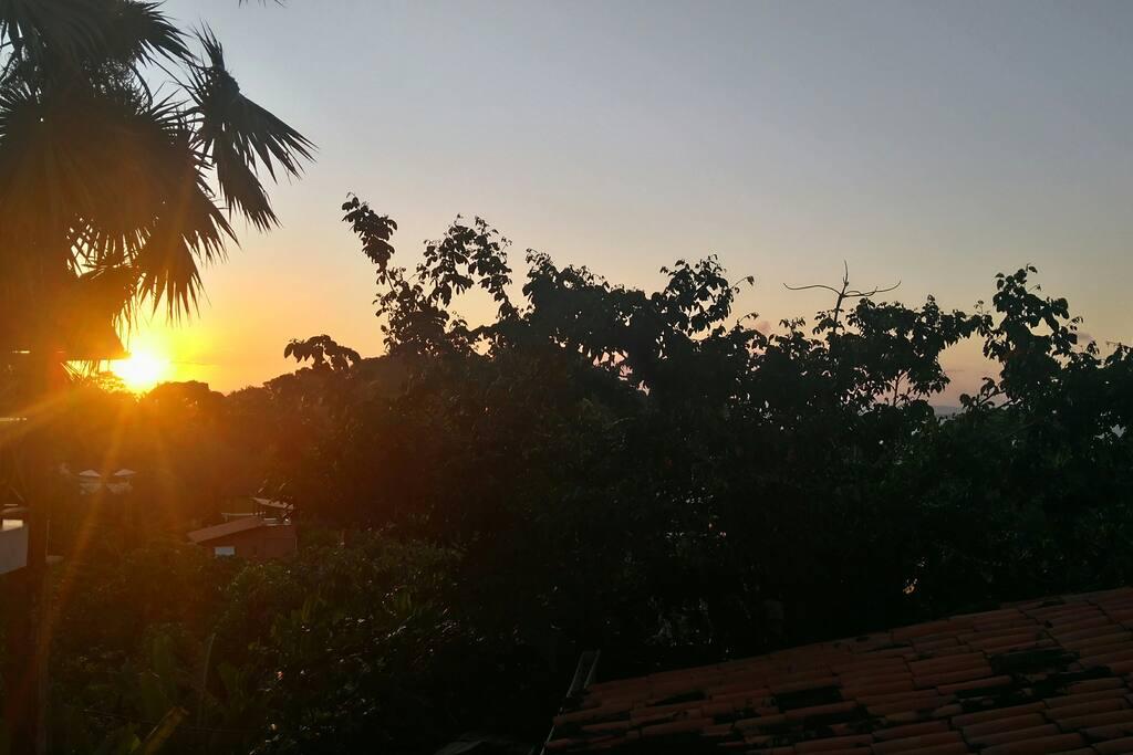 Quarto com vista para o pôr do sol