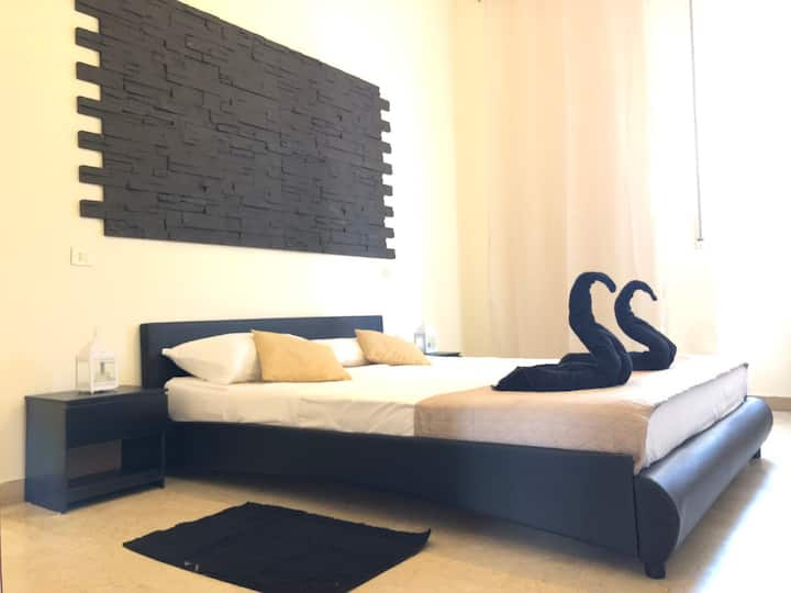 Black and withe sweet room