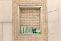 Every bathroom comes with hotel style shampoo, soap bar and conditioner