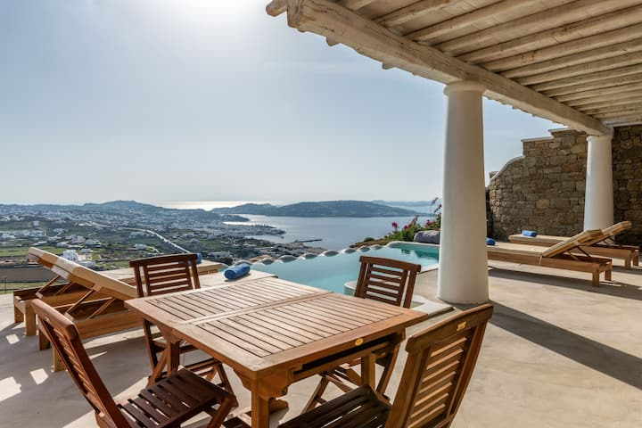 Mykonos Divino Wave Style private infinity pool