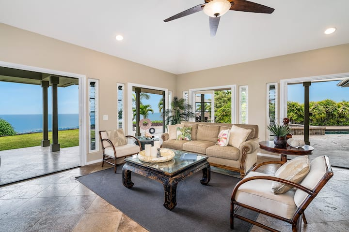 Spectacular Ocean Views With AC, Private Pool & Spa. Sunset Hale