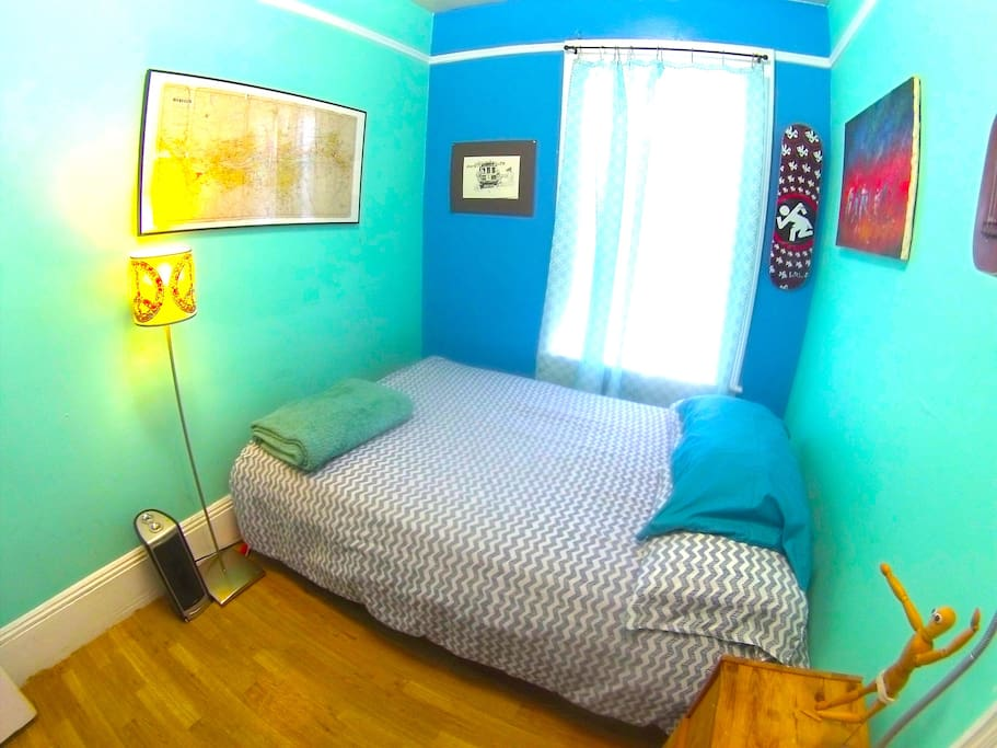 Double Bed, lots of natural light