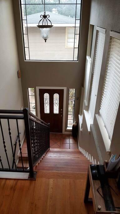 Entry door going up to second floor