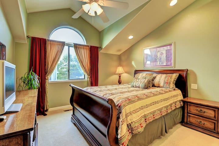 Second floor Master Suite with private bathroom.
