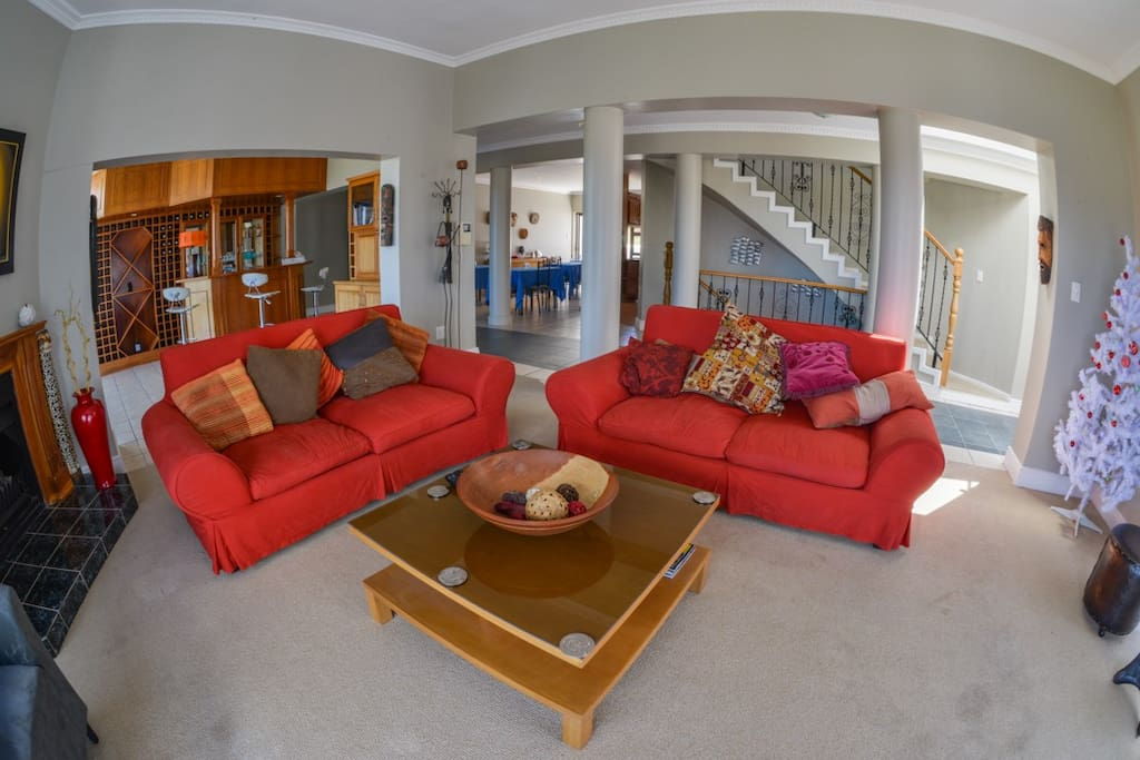 The entrance are and lounge area are bright; comfortable and modern open-plan