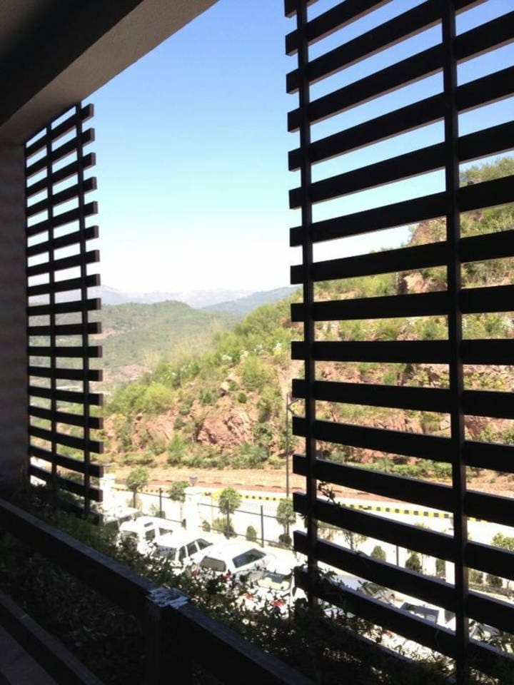 View of Margalla Hills from the Balcony