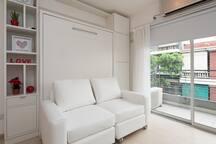 Practico y Comodo apartamento para dos personas.